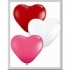 Ballons Coeur qualatex Assortiment Rouge, Rose et Blanc (28 cm)
